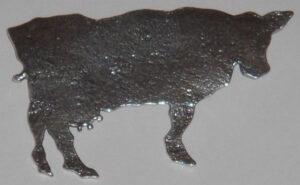 Cow brooch, silver'Yre dyr' (Giddy animals) series1986, for David-Andersen