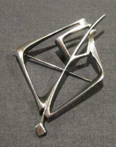 Silver broochpartly patinated/oxidized1960s.