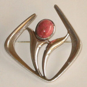 Brooch, the 'Troll Series'silver with Thulite, 1964.