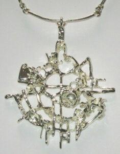 Silver pendant'Tundra Series', 1960s