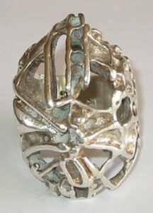 Ring, silver'Tundra Series', 1960s.