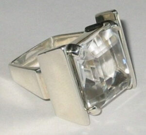 Ring, ca 1965silver with Rock Crystal.
