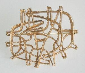 Brooch, gold1960s.