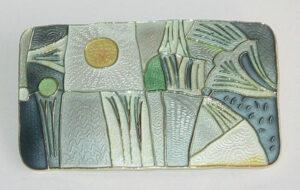 'Spring' brooch, 1959, Large version Silver gilt with enamel.