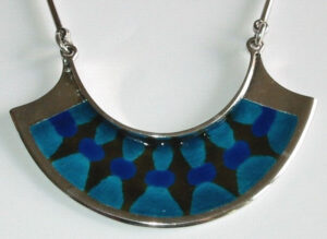 Pendant, 1960s Silver with enamel.