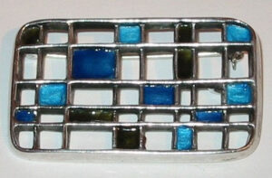 Brooch, 1963 Silver with enamel.