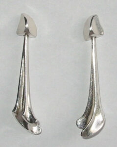 'Calliope' earrings, 1978 Silver.